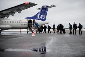 SAS flygtrafik mellan Örnsköldsvik och Stockholm Arlanda är av vital betydelse för näringslivet i Örnsköldsviksområdet. Inte minst då många företagsresenärer fortsätter vidare till andra länder på samma bokning.