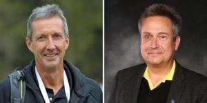 Tomas Hoszek, generalsekreterare Elitfotboll Dam och Mats Enquist, generalsekreterare Svensk Elitfotboll. Foto: Pressbild