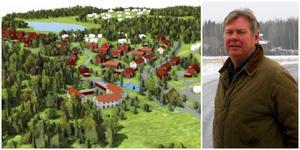 Längs Stensättravägen blir det flerbostadshus och längst i väster, uppe till vänster på bilden, blir det villor. Boris Hagelin fortsätter att arbeta fram nya bostäder i Sundsvik. Illustration ur plan- och genomförandebeskrivningen.
