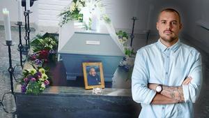 Under ett halvår hade Arbetarbladets kriminalreporter Christoffer Urborn regelbunden kontakt med Daniel Saukkoriipi. Planen var ett längre reportage om hans liv. Bild: Montage