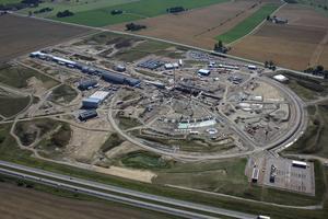 ESS-bygget i Lundfotograferat från luften. Bild: Perry Nordeng