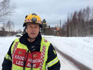 Räddningsledare Håkan Beus, Mora brandkår.