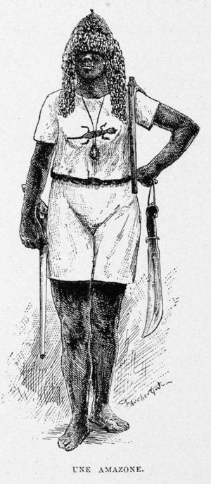 En amason från Dahmohey. Illustration ur Alexandre d'Albécas