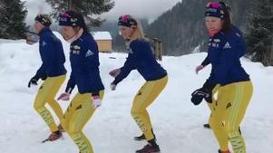 Skidskyttarna Ingela Andersson, Bettan Högberg, Ingela Andersson, Johanna Skottheim och Felicia Lindqvist. Bild: Instagram.