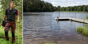 Per Bengtson från Naturskyddsföreningen menar att det vore förödande att förstöra Smalsjön där barn i generationer har lärt sig att simma.