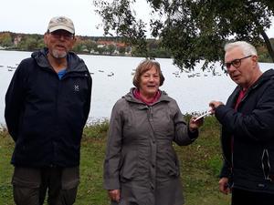 Börje Larsson, Inger Ahlgren och jackpotvinnaren Tord Andersson