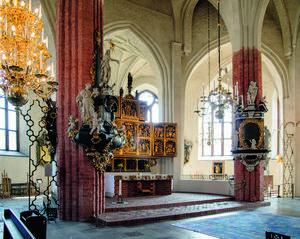 Stureskåpet är Västerås domkyrkans högaltare. Det tillverkades i Antwerpen omkring 1513 och beställdes i enlighet med riksföreståndaren Svante Stures testamente till Domkyrkan.Foto: Rikard Larsson