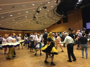Squaredansare från England, Tyskland, Holland, Belgien och en rad andra länder fyllde Conventum under påskhelgen.
