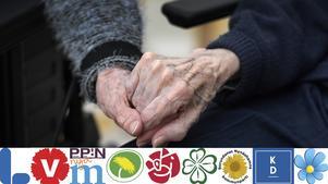 Så ser partierna i Nynäshamns kommunfullmäktige på äldrevården. Foto: Janerik Henriksson / TT