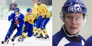 Daniel Berlin varnar för Markus Kumpuoja och finska landslaget. Bild: Adam Ihse (TT) / Rikard Bäckman