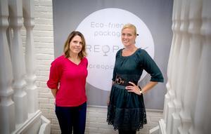 Heléne Häggkvist, grundare och ägare av Creopack AB med Frida Stjärnström, koordinator.