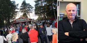 Kurt Podgorski, parkstyrelsens nye ordförande, ska nu se till att Orrskogens Folkets Park i Malung får tillbaka anseendet. Fotomontage.