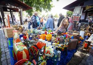 Dalahästar fanns på många bord. Foto: Lennye Osbeck