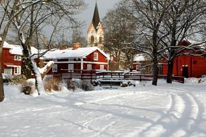 Gamla Byn i vinterskrud. Foto: Marita Ekberg