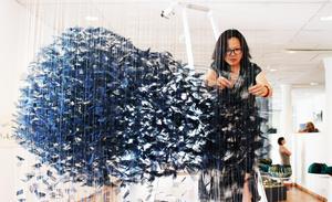 Leyun Wang arbetar med konst i rörelse.