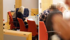 Till vänster den mordmisstänkte 22-åringen med sin advokat Catharina Wikner. 23-åringen till höger, med advokat Ulf Medefeldt.