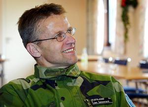 Jan Salestrand 30 april 2003 då han var var chef för F4 på Frösön.