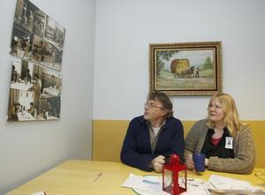 Magnus Bohman och Jeanette Wahl på Jamtli är bägge med   i gruppen för att öka samarbetet mellan olika museer och LO-anslutna arbetsplatser.