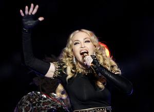 Madonna. Kommer till Sverige i början av juli.