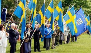 Förra året var det fullt firande på Djäkneberget, där bland annat alla dessa fanor kunde beskådas.