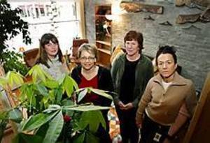 Katarina Ekdahl, Ewa Engström, Britt-Marie Isberg och Eva Ekström har nu fått egna lokaler till sina patienter som lider av ätstörningar. Foto: LARS WIGERT\n