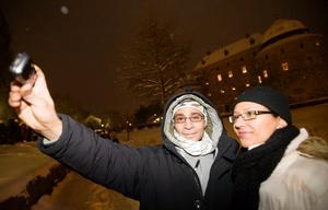 Ett eget foto som minne för Lanouar och Sirine Boufaied.