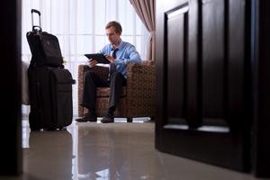 Internet är det första många affärsresenärer kollar på hotellrummet.