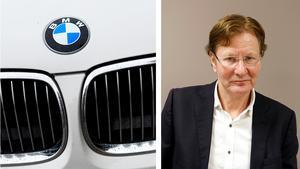 till vänster: BMW:s logotyp, till höger: tidigare VD Björn Ryd.