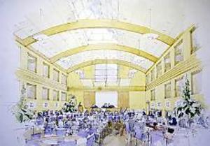Blev ett luftslott. Folkets hus-föreståndaren Per Schönnings planerade för en utbyggnad av Folkets hus med en ny möteslokal med plats för 250 personer. Fast hela idén byggde på att få landstinget som en av de permanenta hyresgästerna.
