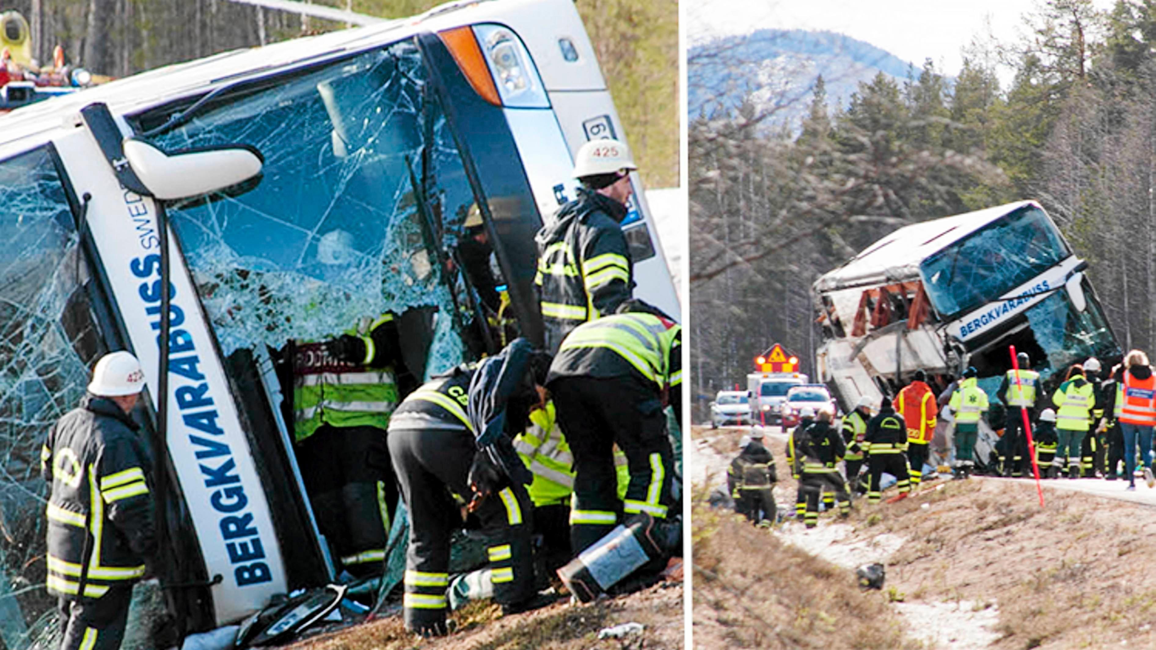 Rättegången efter  bussolyckan hålls i mars