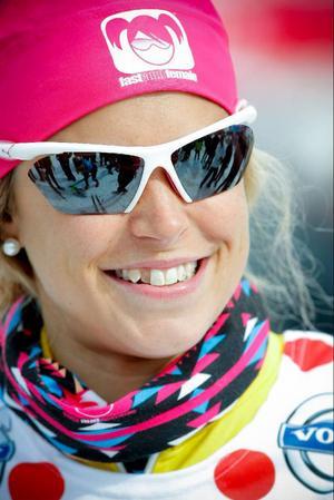 Anna Haag var en av många elitåkare som rundade av säsongen i Åre.