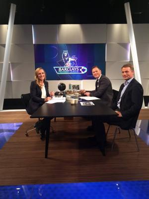 Söndag: Torbjörn Nilsson och Pontus Kåmark i Premier League-studion. Världsklass!