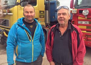 John Vesterström och Håkan Björk är trötta på alla stölder de utsätts för från de maskiner som lämnas ute på jobb.