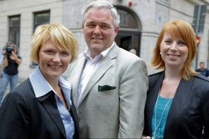 Anna-Karin Hatt, Anders W Jonsson och Annie Johansson presenterades i går som de tre kandidater som Foto: FREDRIK PERSSON/SCANPIXkonkurrerar om partiledarposten i Centerpartiet. Valet görs i Åre i september.