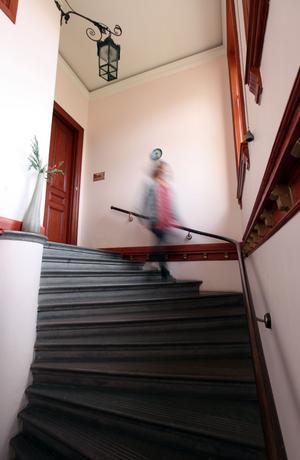 Trapphuset där Agnes har sprungit många gånger.