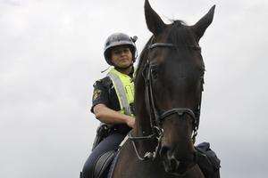 På besök. Västeråsaren och polisen Gry Henning, som vanligtvis är stationerad i Malmö, fick jobba hemma under Power Meet.