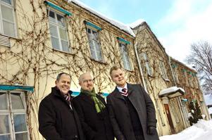 Bo Lindell, Mats Lihnell (vd) och blivande marknadschef Robert Lihnell.