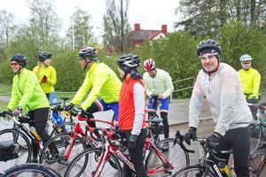 Anders Malmquist från Västerås (till höger) var hoppfull vid startlinjen.