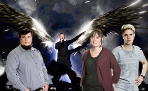 Fredrik Ytterström, Lina Nyberg och Sara Carlzén siar om utgången i Eurovision.