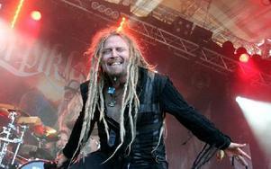 Bandets sångare har även jojkat för Finntroll. Foto: Jennie-Lie Kjörnsberg