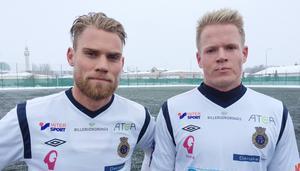 Målskytten David Fällman och nye Martin Rauschenberg.