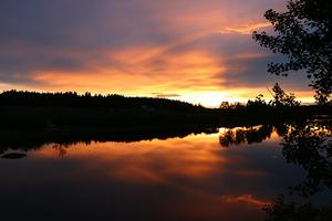 Riktigt fin solnedgång över Storsjön, Skinnskatteberg.