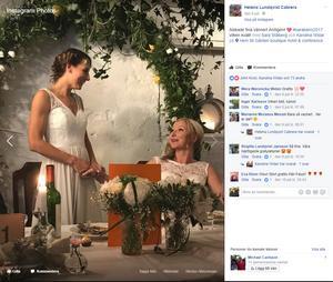 Widar och den förra Rönnbyspelaren Sara Stålberg har gått och gift sig.