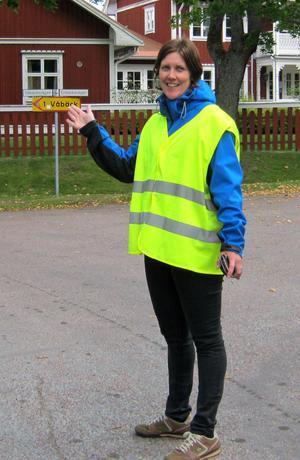 Sofie Haraldsson var trafikvakt under Skoljoggen.
