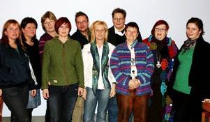Styrelsen från vänster: Anneli Melin, Lena Karlsson, Ann Lidenfeldt, Ulrika Swan, Fredrik Gärd, Ewa Widstrand, Kerstin Henriksson, Agneta Österberg, Solvig Ljusterdal, Josefine Häggmark.