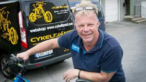 Jörgen Bjälkmark har inte sett någon markant ökning av cyklister på grund av brokaoset.