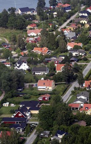 Småhus. Förväntas sjunka i pris. Bilden är från Enhagen i Västerås.
