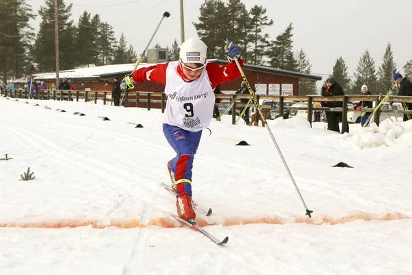 Stilstudie av Jåvva Rensberg från Funäsdalens IF som blev tvåa i H10 efter omöjliga Eddie Pettersson från Oxbergs IF