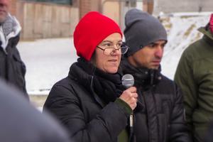 Vänsterns Jessika Svensson utryckte också hon sitt stöd för kurderna och för kampen mot Erdogan.