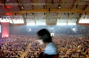 Så såg tidigare års fester ut i Göransson arena.